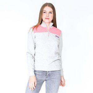 VINEYARD VINES Gray & Pink Shep Shirt Pullover